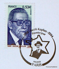 JACOB KAPLAN   FRANCE  Yt 3859 OBLITERATION 1er JOUR  NOTICE PHILATELIQUE