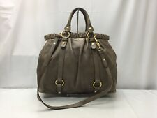 Auth miu miu Leather 2 way Shoulder Hand Bag 9F190050g""
