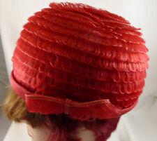 VINTAGE ladies RED hat