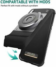 Motorola Moto Z3/Z3 Play Case Durable Protection Compatible with Moto Mods Black