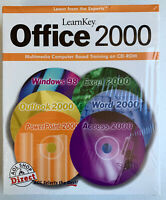 LearnKey Office 2000 Multimedia Computer Based Training on CD-ROM Windows 98 NEW