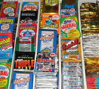 Huge lot of 60 unopened baseball cards in packs!