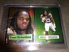 2012 Topps Chrome 1957 Refractor Trent Richardson Cleveland Browns Card #10/ 99