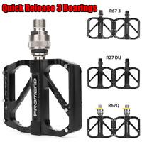PROMEND Quick Release QD Road Bike Pedal MTB Folding Bicycle Pedal 3 Bearings