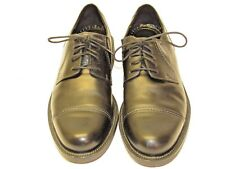 Ecco Men's Black Leather Lace Up Oxford Dress Shoes Shock Point Heels size 11