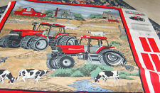 35x36 in Case Farm Equipment wall hanging sewing panel fabric material turkey