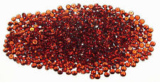 2.5mm Calibrated Orange Red Malaya Garnet Round - 2 STONES