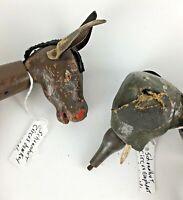 Schoenhut Elephant Donkey Humpty Dumpty Circus Vtg Antique Wood Toy Decor