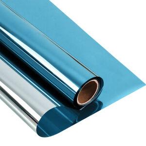 One-way Blue&silver Window Film Self Adhesive Mirror window Reflective Foil