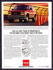 "1992 GMC Yukon GT 4x4 SUV photo ""80 Years of Experience"" promo print ad"