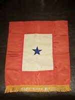 SCARCE WINDOW FLAG WWII WW2 ONE (1) Son in Service Original HOME Full Size