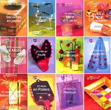 Lot de 12 livres perles serviettes déco albums tissus livre décoration bricolage