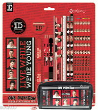 Ufficiale 1D One Direction PARAURTI stationery & CUBOID matita caso SET SCUOLA