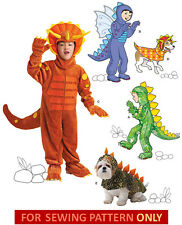 SEWING PATTERN!  MAKE DINOSAUR COSTUME!  CHILD~BOY SIZE 3~8!  DOG S~M~L! MONSTER