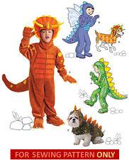 SEWING PATTERN!  MAKE DINOSAUR COSTUME!  CHILD~BOY SIZE 3~8!  DOG S~M~L! MONSTER