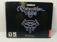 Neverwinter Nights (PC, 2003) Forgotten Realms CD ROM Atari BioWare Corp     T-6