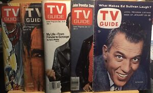 Tv Guide Lot.   5 Issues.   No  Mailing Labels