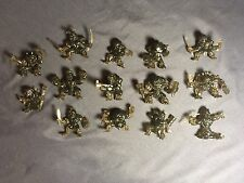 Rare Lot Of 14 Fistful Of Power Shadow Colour Figures For Board Game By Moose