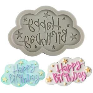 Happy Birthday Silicone Mold Alphabet Letter Chocolate Cake Fondant Baking Mould
