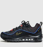Authentic Nike Air Max 98 Women ® ( UK Sizes: 3.5 & 4 ) Triple Black Latest NEW