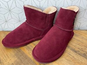 BEARPAW Rosy Suede Sheepskin Button Boot w/ NeverWet Women's Pick Size & Color