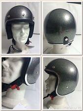 Jet-helm Tipo Biltwell Novelty Genehmigt Graphit MetalFlake Glitter Tg. L