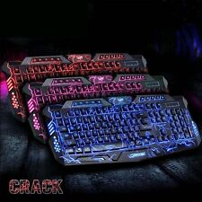 dbb387dbb11 Adjust 3colors Illuminated LED Backlight USB Wired Multimedia PC Gaming  Keyboard