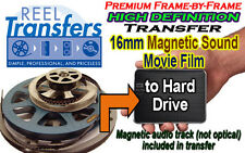 HD convert 16mm film WITH MAGNETIC SOUNDTRACK to HDD