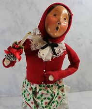 Byers Choice Carolers Christmas Lady holding candle 1994 Figurine Collectible
