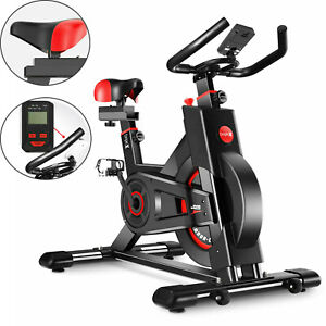 New Pro Magnetic Exercise Bike Home Gym Bicycle Cycling Machine Flywheel LED