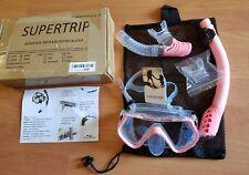 Supertrip Scuba Diving Snorkeling Package Freediving Mask Snorkel Set pink New