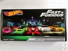 NEW 5x Hot Wheels Premium Limited Edition Fast & Furious Set 1/5 2/5 3/5 4/5 5/5