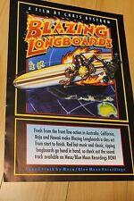 Blazing Longboards - Chris Bystrom 1996 Australia 11x17in. Surfing Film Poster