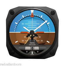 "New TRINTEC ARTIFICIAL HORIZON Travel Alarm Clock Aviation Pilot Guage DM23 3.5"""