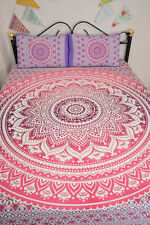 Indian Mandala Bed Cover Sheet Bohemian Decor Bedding Throw Queen Coverlet Set