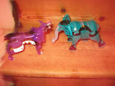 ELEPHANT & WOLF TYPE CLICK ACTION TRANSFORMERS MOVEABLE LIMBS  JAW PLAY FIGURES