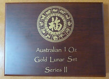 Lunar Series 2 Wooden Coin Box for 12 X One 1 oz Gold Coins