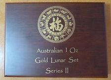 Lunar Serie 2 monete in legno Box per un 12 x 1 once monete d'oro