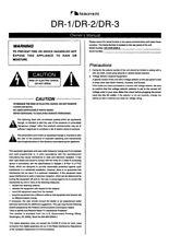 Nakamichi DR-1 DR-2 DR-3 Cassette Deck Owners Instruction Manual