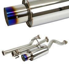 "4"" Burn Tip Cat back Exhaust System Muffler For 02-06 Acura RSX DC5 W Silencer"