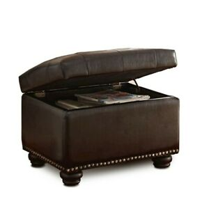 Convenience Concepts Designs4Comfort 5th Ave Storage Ottoman, Espresso - 163010E
