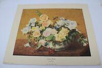 """Henri Fantin-Latour Summer Bouquet Art Print 14x17"""""""