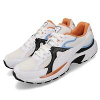 Puma Axis Plus 90s White Black Blue Orange Men Running Shoes Sneakers 370287-14