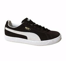 Puma The Suede Black-Coffee-Vaporous Gray-Metallic Gold Mens Shoes 181649 05