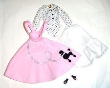 Barbie Repro Fashion Soda Shop Blouse/Skirt Jumper For Barbie Doll dr12