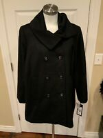 Kristen Blake Black Double Breasted Collared Coat, Size 18W, NWT! $260