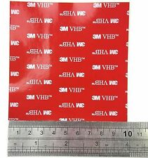 1 x CLEAR 3M VHB DOUBLE SIDED PADS ~ 1mm thick ~ Self Adhesive Car Tape ~ 4910