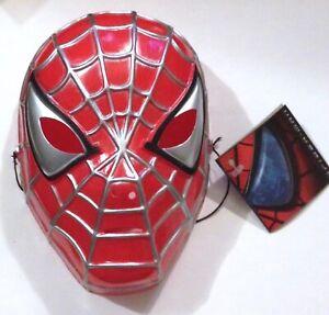 SPIDER-MAN Movie Child's Plastic Halloween Mask © César 2002 UNUSED/RARE w/Tags