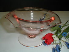 Imperial Glass Pink Rose #727 MOLLY Footed Octagon Mayonnaise Mayo Bowl