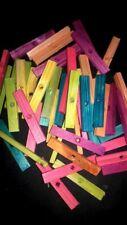 "30 Wood Blocks 3"" Colored Wood Bird Toy Parts W/1/4"" Hole"